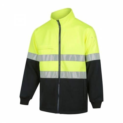 Hi-Vis 2-Tone Full Zip Fleece Jumper with Reflective Tape