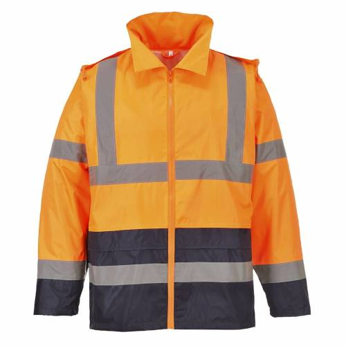 Hi-Vis Contrast Rain Jacket Orange