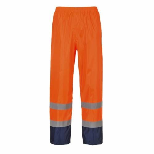 Hi-Vis Classic Contrast Rain Trouser Orange