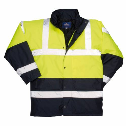 Hi-Vis Two Tone Traffic Jacket - Yellow/Navy
