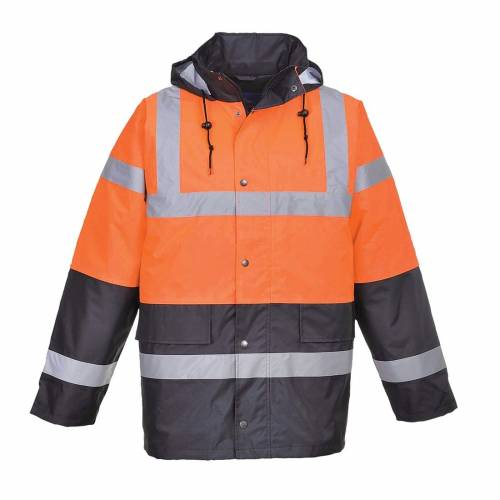 Hi-Vis Two Tone Traffic Jacket - Orange/Navy
