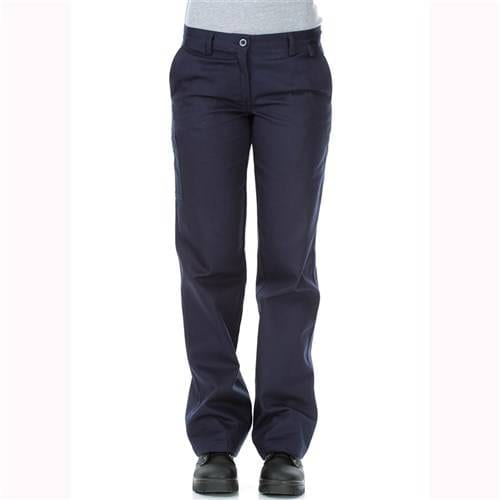 WORKIT Ladies Cotton Drill Navy Work Pants - No Tape