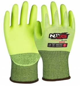 AIR Fluro Yellow NXG SafetyMate Gloves A-5130FY