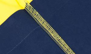 Vortex Biomotion Two Tone Shirt yellow stitching closeup