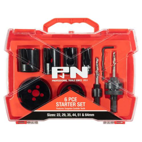 Holesaw Starter Set 6 piece
