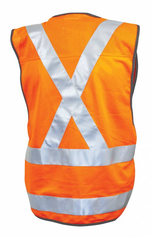 NSW Rail Vest Perforated Reflective Tape back